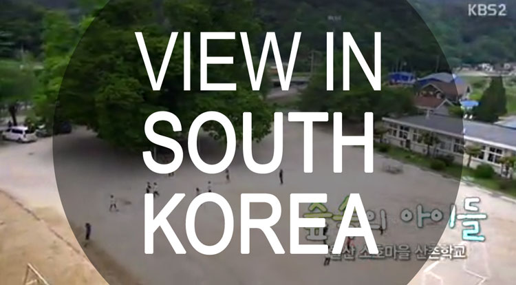 View in South Korea
