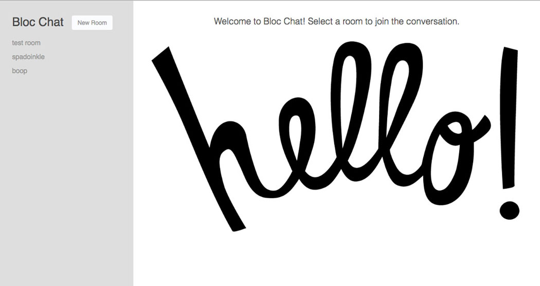 Bloc Chat home